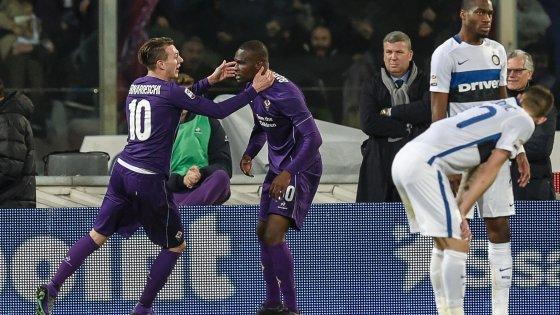Fiorentina-Inter 2-1: Babacar affonda i nerazzurri, viola terzi