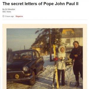 Bbc svela carteggio tra papa Giovanni Paolo II e una donna sposata