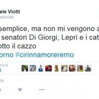 Unioni civili, Viotti su Twitter: ''I cattodem hanno rotto il ...''