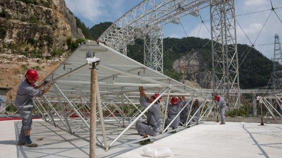 Cina, 9.000 evacuati per il radiotelescopio più grande al mondo