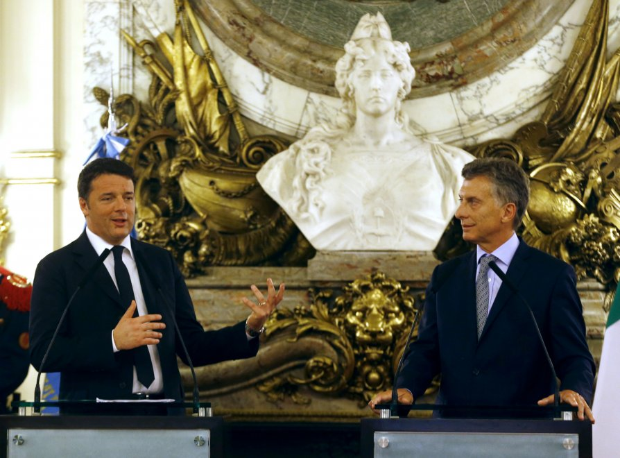 "Renzi in Argentina, Macri: ""Porte aperte a italiani"""