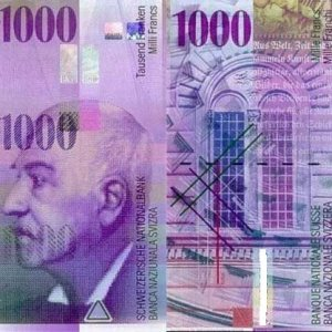 """La Svizzera risponde a Draghi: """"Non toglieremo di mezzo la banconota da 1.000 franchi"""""""