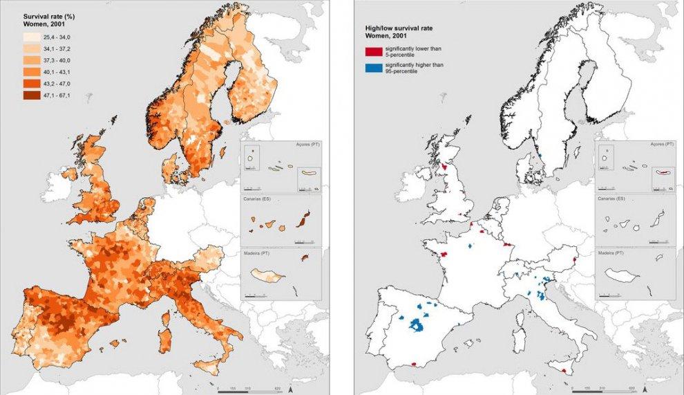 Europa, la mappa della longevità: in Italia si vive più a lungo nel Nordest