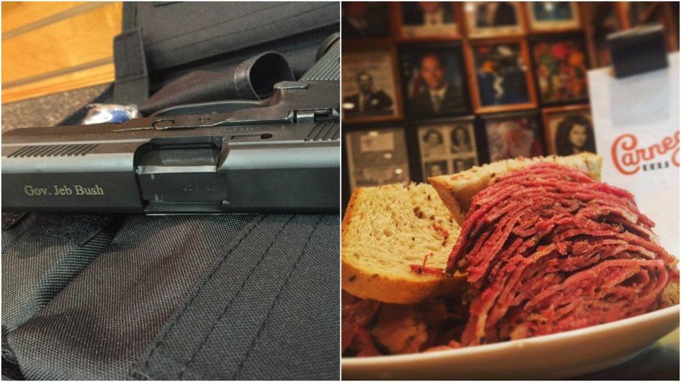 Sfida su Twitter sulla visione dell'America: pistola per Bush, panino per De Blasio