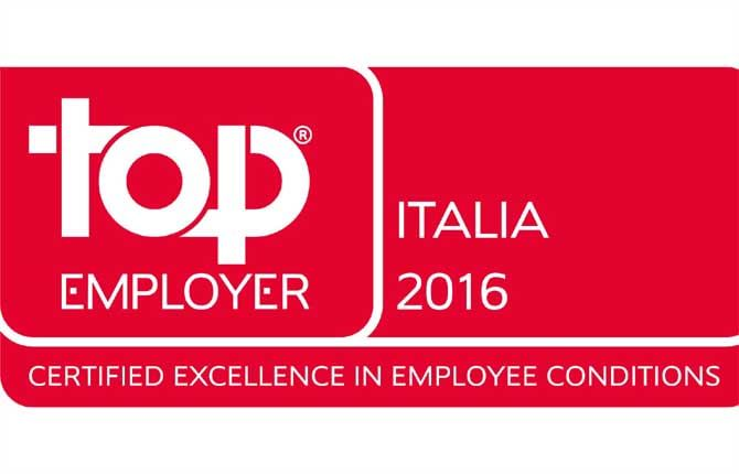 "Volkswagen group Italia è ""Top Employer"""