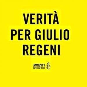 """""""Verità per Giulio Regeni"""": uno striscione da mettere ovunque"""