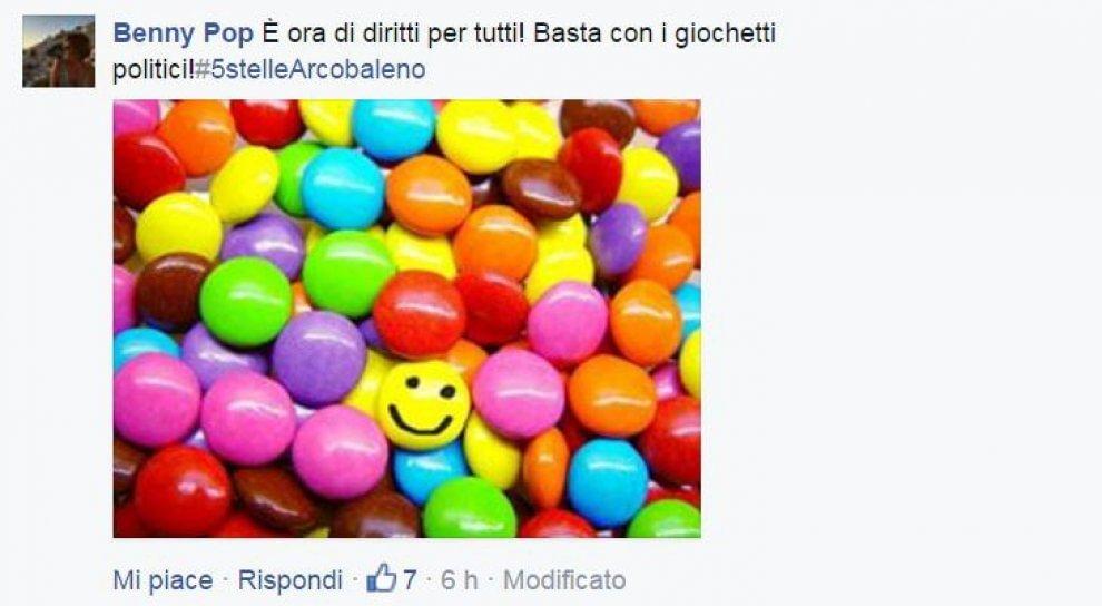 Unioni civili, valanga di arcobaleni sulla pagina Facebook M5s: la protesta è social