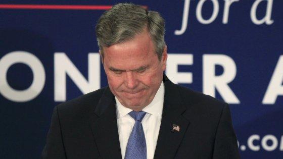 """Jeb Bush si ritira: """"Gli elettori hanno scelto diversamente"""""""