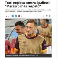 Il caso Totti sui siti del mondo