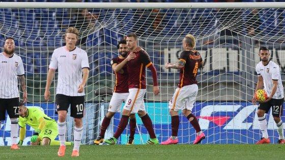 Roma-Palermo 5-0: la lite non ferma i giallorossi