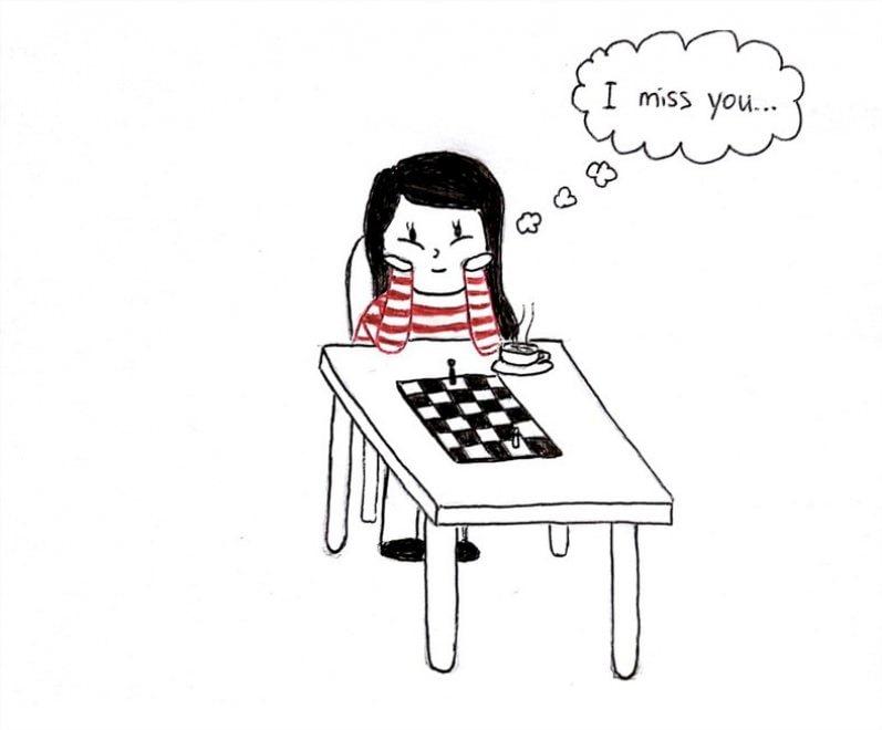 Amore a distanza, gioie e dolori nelle illustrazioni di Viola Wang