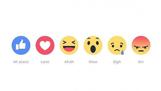 """Facebook Reactions, da oggi il """"mi piace"""" non è più solo"""