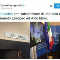 Parlamento europeo, una sala per Aldo Moro ''tenace mediatore''