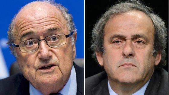 """Fifa, Platini e Blatter: """"Squalifiche ridotte da 8 a 6 anni"""""""