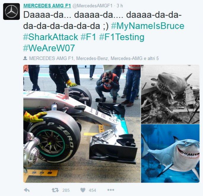 Formula 1, Mercedes presenta il muso-squalo, Renault risponde col pesce Nemo