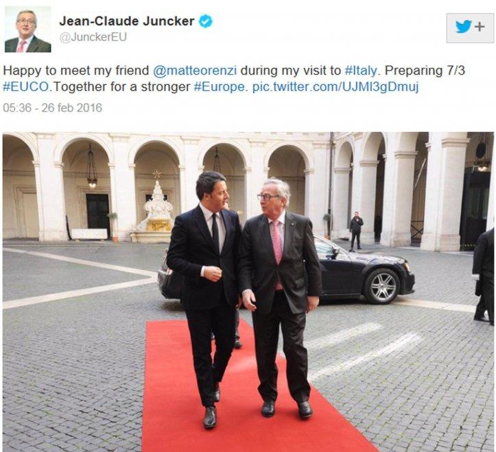 Renzi e Juncker, due mesi di polemiche e attacchi