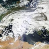 Maltempo, il ciclone atlantico sull'Italia: le immagini da satellite