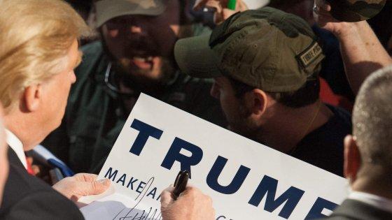 """Primarie 2016, Trump cita motto di Mussolini su Twitter: """"Mi piace come suona"""""""