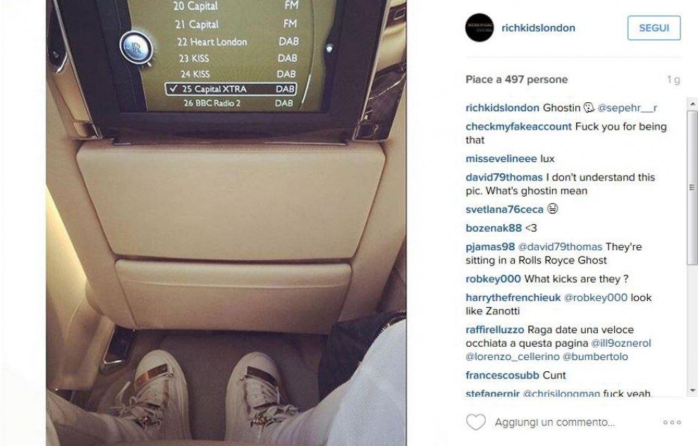 """""""Rich kids of London"""": su Instagram i figli ricchi della City"""