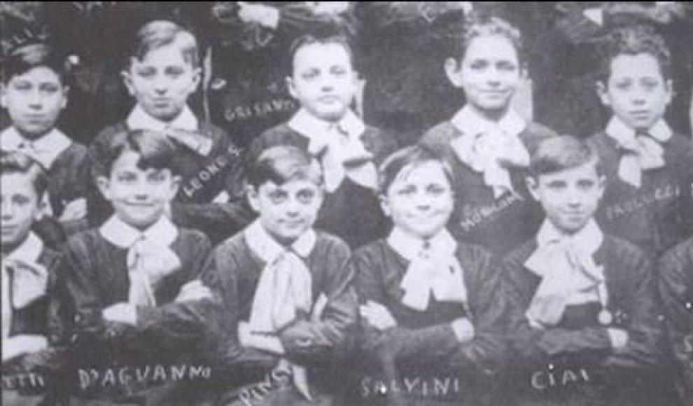 Ennio Morricone e Sergio Leone, insieme nella foto delle elementari