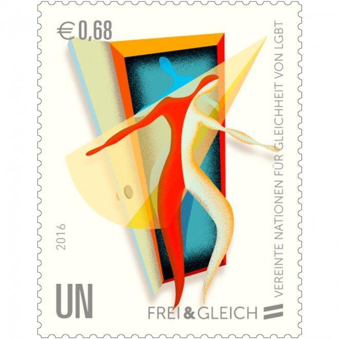 Francobolli arcobaleno: serie dell'Onu per i diritti civili