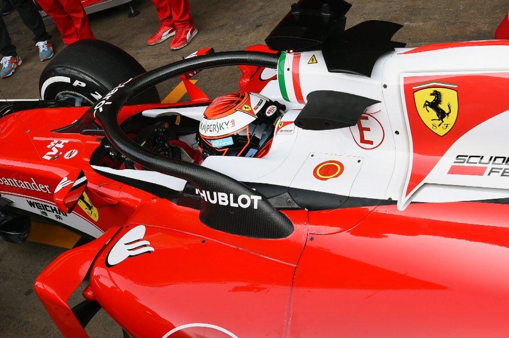 """Ferrari, Raikkonen prova il sistema """"Halo"""""""