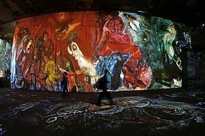 Provenza: Chagall rivive in luce. L'installazione è uno show