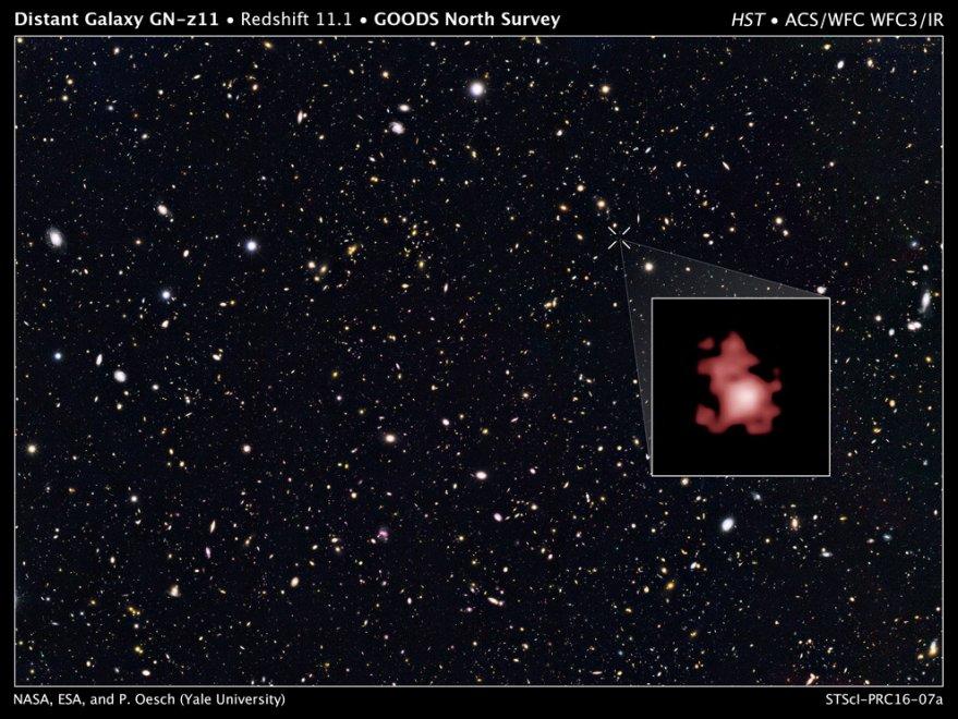 Ai confini del tempo, Hubble fotografa la galassia più lontana