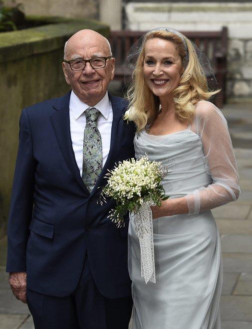 Rupert Murdoch e  Jerry Hall sposi: oggi il secondo sì in chiesa