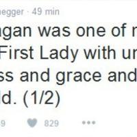 Addio a Nancy Regan, il cordoglio su Twitter: ''Era la mia eroina''