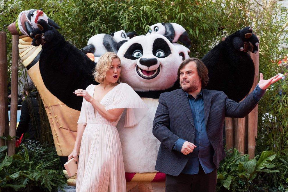 Jack Black e Kate Hudson: tra Panda e dragoni, il tappeto rosso a Londra