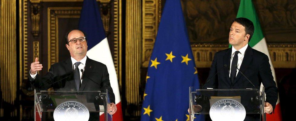 """Italia-Francia, vertice nel nome di Valeria. Renzi e Hollande: Ue guidi """"valori, ideali, speranze"""""""