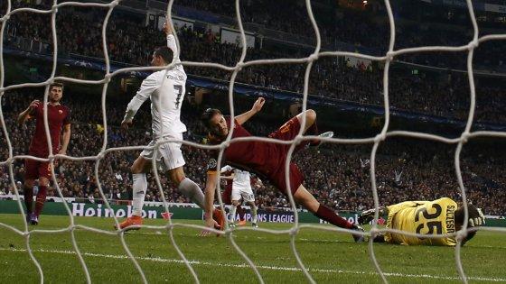 Real Madrid-Roma 2-0: giallorossi spreconi, Ronaldo e James non perdonano
