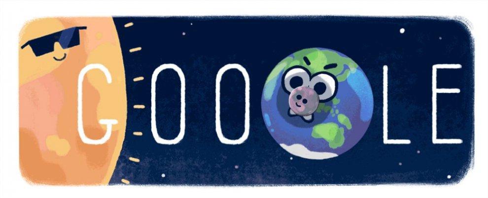 Eclissi solare nel Pacifico, il doodle di Google