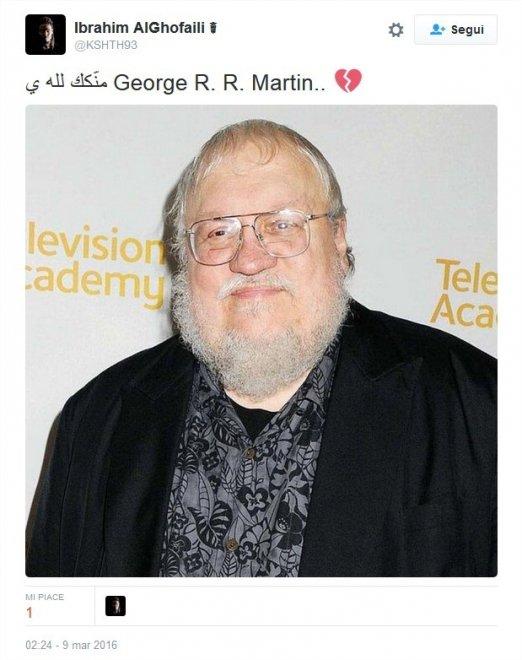 Muore George Martin, Twitter lo confonde con l'autore di Game of Thrones