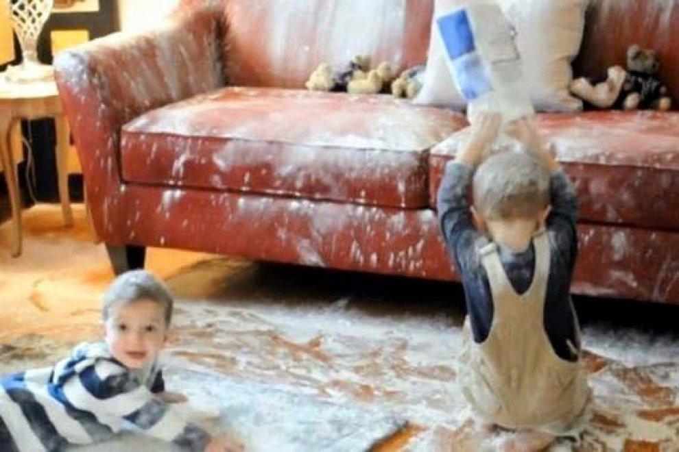 Quando la casa è un disastro: baby vandali in azione