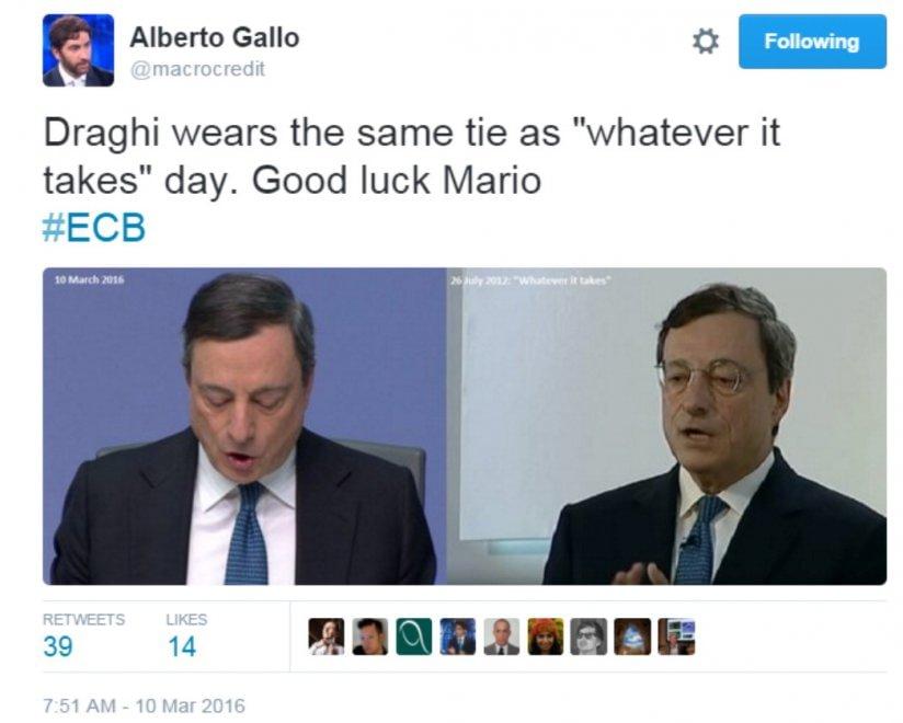 Che cravatta indosserà Draghi? Il gioco che ha conquistato gli economisti