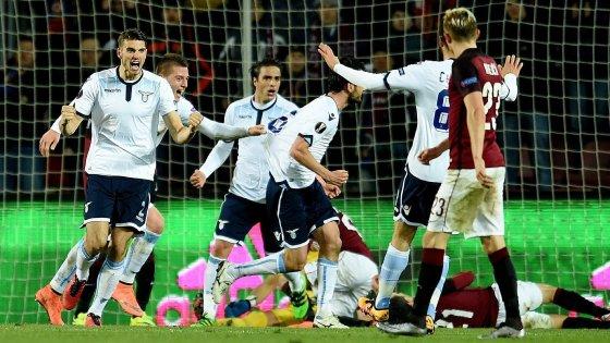 Sparta Praga-Lazio 1-1, Parolo fa sognare i biancocelesti
