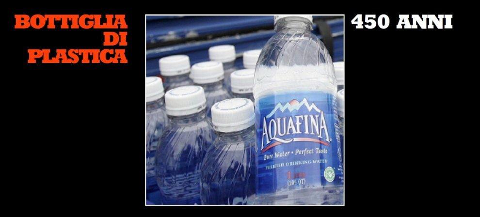 Se una bottiglia di plastica vive 450 anni