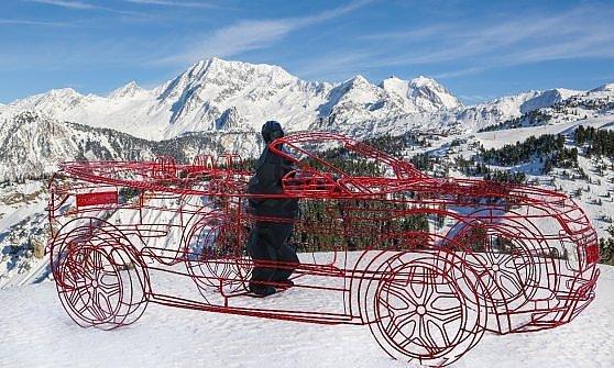 Land Rover: l'arte va sulle nevi