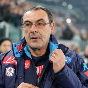"""Napoli, Sarri: """"Chi ha guardato la Juve è una testa di c...."""""""