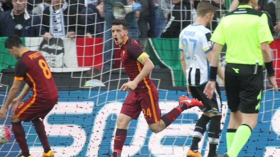 Udinese-Roma 1-2, Dzeko e Florenzi firmano l'ottava vittoria di fila