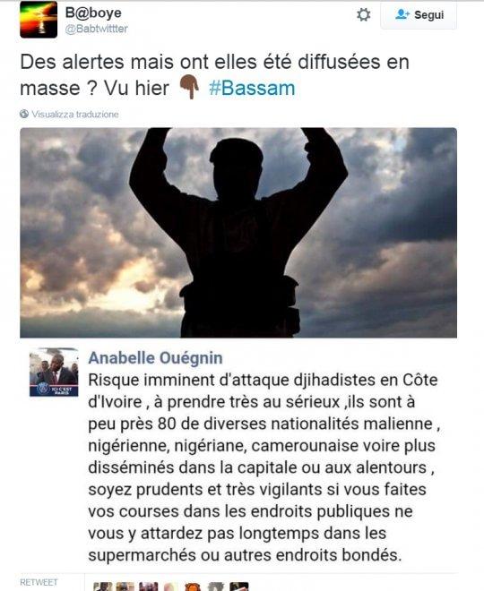 """Costa d'Avorio, l'allarme sui social: """"Domani ci sarà un attacco jihadista, restate a casa"""""""