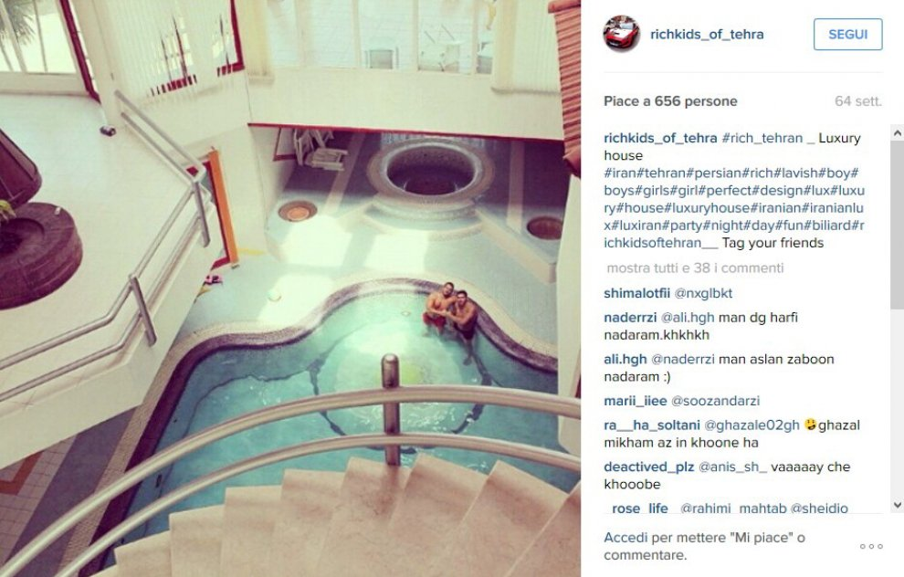 Una piscina in soggiorno: i Rich Kids di Teheran