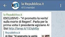 Repubblica anche su Telegram: tutti i canali per essere informati