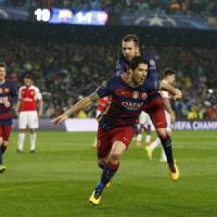 Barcellona-Arsenal 3-1, il tridente blaugrana spazza via Wenger