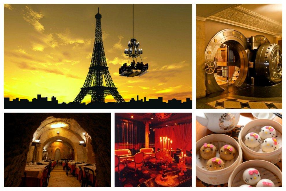 Nel caveau di una banca o sospesi in aria: il giro del mondo nei ristoranti più strani