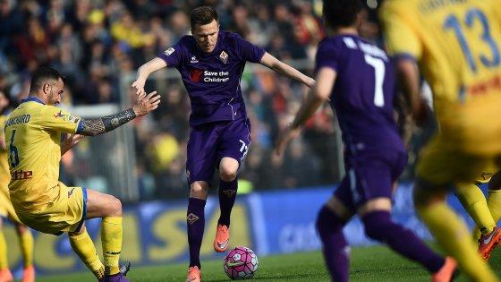 Frosinone-Fiorentina 0-0, i viola si fermano al palo