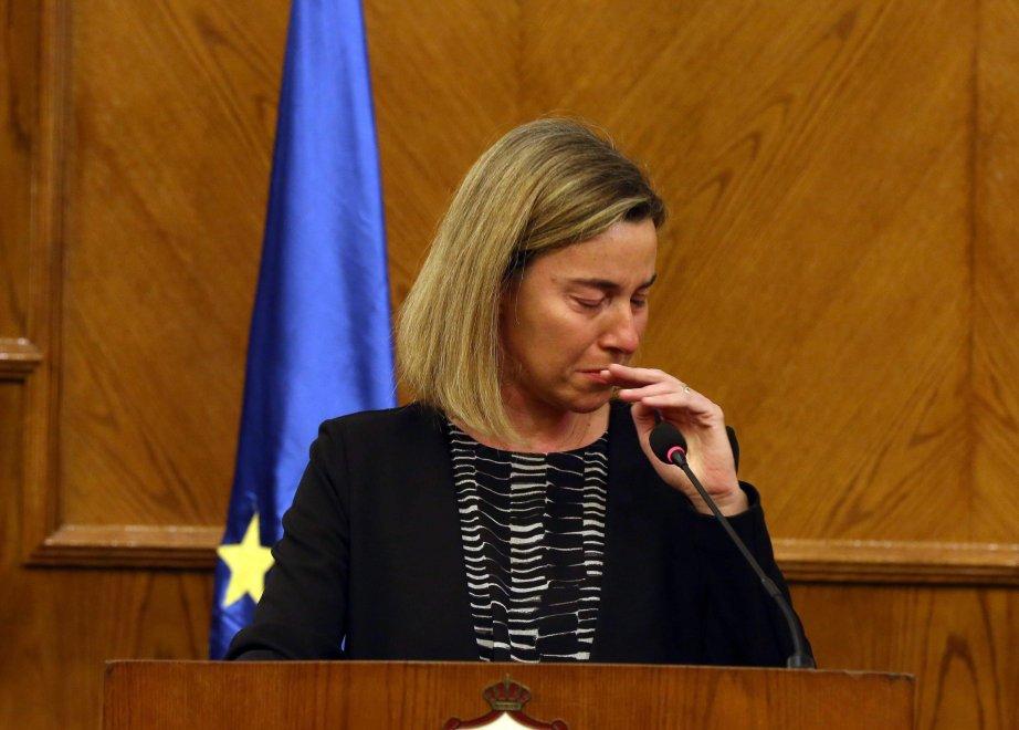 Bruxelles sotto attacco, le lacrime di Federica Mogherini: ''Oggi è un giorno molto triste per l'Europa''