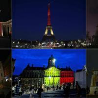 I monumenti si illuminano con i colori del Belgio: il cordoglio dopo gli attentati di Bruxelles